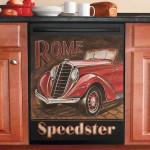 Classic Cars Speedster Dishwasher Cover Sticker Kitchen Decor