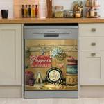 Hummingbird Happiness Is Homemade Jam Dishwasher Cover Sticker Kitchen Decor