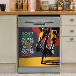 Cycling Dont Stop Dishwasher Cover Sticker Kitchen Decor