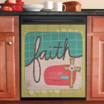 If You Have Faith Nothing Will Be Impossible Dishwasher Cover Sticker Kitchen Decoration