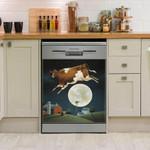 Cow Storehouse Fullmoon Dishwasher Cover Sticker Kitchen Decor