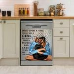I Am The Girl Who Loved Music And Cats Dishwasher Cover Sticker Kitchen Decor