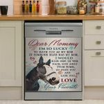 Horse Dear Mommy I'm So Lucky To Have You As My Mom Dishwasher Cover Sticker Kitchen Decor