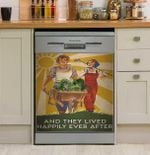 Gardening They Lived Happily Dishwasher Cover Sticker Kitchen Decor