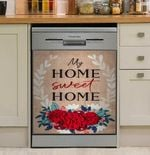 Home Sweet Home Floral Dishwasher Cover Sticker Kitchen Decor