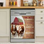 Cow The Best Gift Is The Presence Of Family Wrapped In Love Dishwasher Cover Sticker Kitchen Decor
