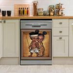 Cute Black Baby Vintage Dishwasher Cover Sticker Kitchen Decor