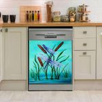 Dragonfly In Flying Wing Dishwasher Cover Sticker Kitchen Decor