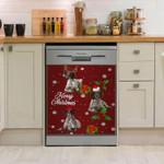 German Shorthaired Pointer Merry Christmas Pattern Dishwasher Cover Sticker Kitchen Decor