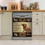 Dachshund Don't Look Back Just Look Ahead Dishwasher Cover Sticker Kitchen Decor