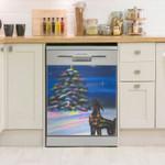 Doberman Sparkling Tree Dishwasher Cover Sticker Kitchen Decor