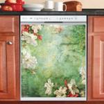 Dreamy Flowers Tropical Dishwasher Cover Sticker Kitchen Decor