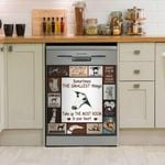 Greyhound Dog Sometimes The Smallest Things Take Up The Most Room In Your Heart Dishwasher Cover Sticker Kitchen Decor