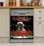 Dachshund Winter Is Not A Season It's A Celebration Dishwasher Cover Sticker Kitchen Decor