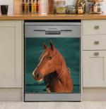 Horse Face Vertical Dishwasher Cover Sticker Kitchen Decor