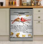 To My Husband In Heaven Cardinal Bird Dishwasher Cover Sticker Kitchen Decor