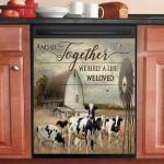 Holstein Cattle We Built The Life We Loved Dishwasher Cover Sticker Kitchen Decor