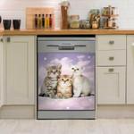 Kitten Cat Cute Dishwasher Cover Sticker Kitchen Decor