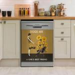 German Shorthair Pointer Dog's Are A Girl's Best Friend Dishwasher Cover Sticker Kitchen Decor