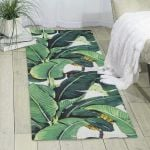 Tropical Banana Palm Leaves Printed Area Rug Home Decor