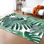 Tropical Palm Leave Summer Hawaii Printed Area Rug Home Decor
