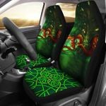 Celtic Mythology Celtic Dragon With Green Man And Deer Printed Car Seat Covers