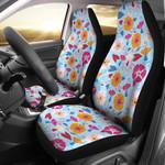 Morning Glory Vivid Pattern Printed Car Seat Covers