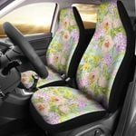 Hydrangea Colored Pattern Light Blue Printed Car Seat Covers