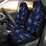 Dragonfly Hand Drawn Spirit Animal Design Printed Car Seat Covers