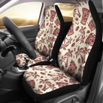 Tiki Tribal Symbol Palm Tree Pattern Printed Car Seat Covers