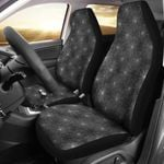 Spider Web Grey And Black Design Printed Car Seat Covers