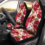 Pomegranate Pattern Red And White Printed Car Seat Covers