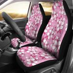 Cherry Blossom Pink Background Printed Car Seat Covers