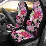 Lily Pattern Blooming Nature Printed Car Seat Covers