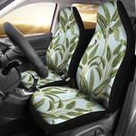 Banana Tree In Pastel Mint Printed Car Seat Covers