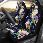 The Beauty Of Pansy Pattern Printed Car Seat Covers