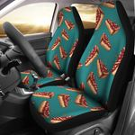 Delicious Cheesecake Cherry Teal Background Printed Car Seat Covers