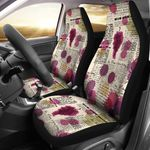 Wine Style Newspaper Design Printed Car Seat Covers