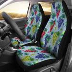 Grape Pattern Light Blue Printed Car Seat Covers