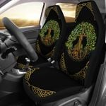 Gold Celtic Tree Of Life Printed Car Seat Covers