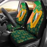Celtic Ireland Irish Shamrock With Traditional Harp Printed Car Seat Covers