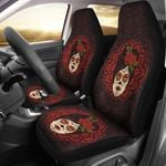 Day Of The Dead Mexican Girl Design Printed Car Seat Covers