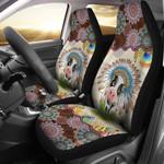 Cow Mandala Pattern Printed Car Seat Covers