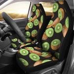 Kiwi Green And Brown Pattern Printed Car Seat Covers