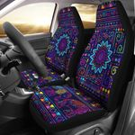 Elephant Colorful Indian Printed Car Seat Covers