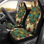 Sea Turtle Colorful Tribal Pattern Printed Car Seat Covers