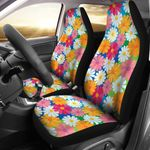 Daisy Pattern Vivid Color Design Printed Car Seat Covers