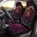 Celtic Samhain Black Cat With Pentagram Symbol Printed Car Seat Covers