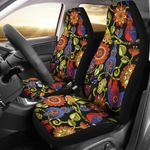 Steampunk Bird And Plant Design Printed Car Seat Covers