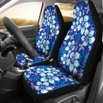 Hibiscus Pattern Dark Blue Background Printed Car Seat Covers